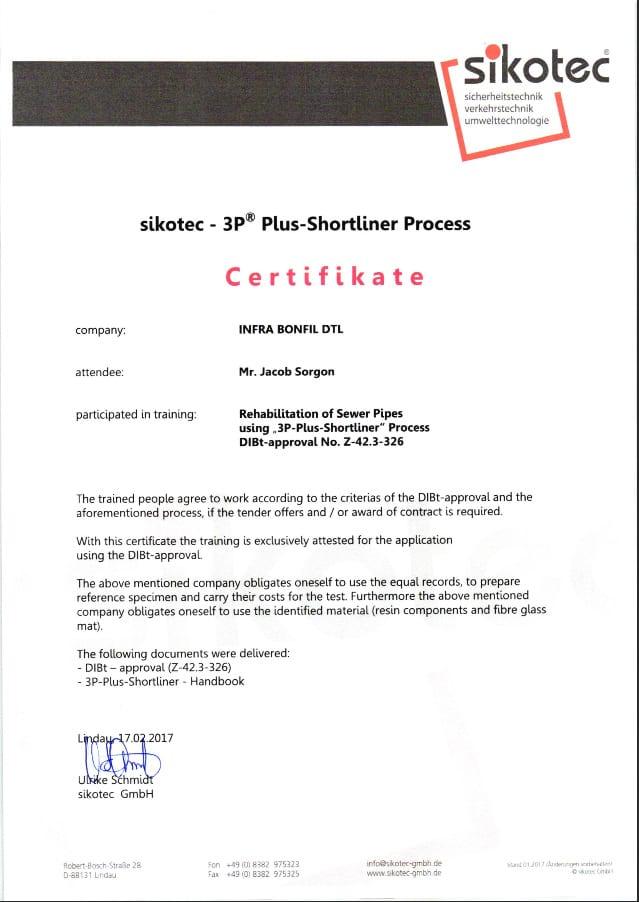 אישור ממכון התקנים הגרמני למקצועניות או מוסמכים לתיקונים פנים צנרת
